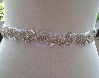 Wedding ,Bridal Sash,Best seller sash ,Rhinestone Crystal Sash,Beaded sash Wedding Belt Sash