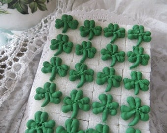 Royal Icing Decorated St. Patrick's Day Sugar Cubes