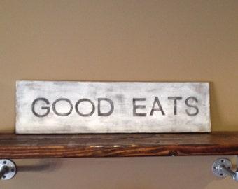 Good Eats Wood Sign