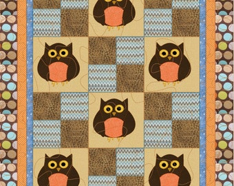 Whooo's Watching You Baby Quilt pattern