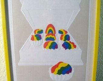 "Roy Williams Framed Embossed Signed Art Print: ""Rainbow Covered Cherries"""