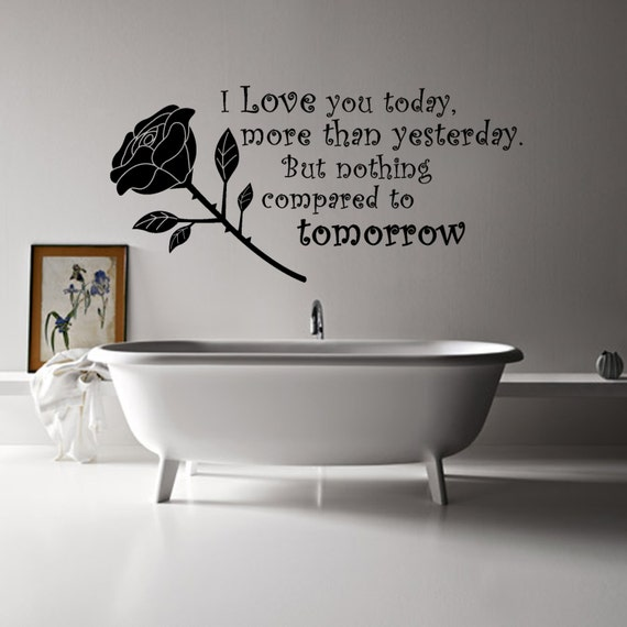 I Love You More Today Than Yesterday: I Love You Today More Than Yesterday Wall Art By AtLoudDesigns
