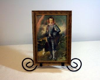 Blue Boy framed print-small vintage framed picture