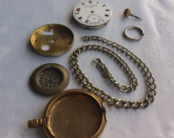 Vintage mixed lot of watch parts