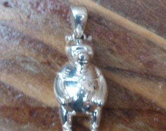 vintage sterling silver pig charm/pendant