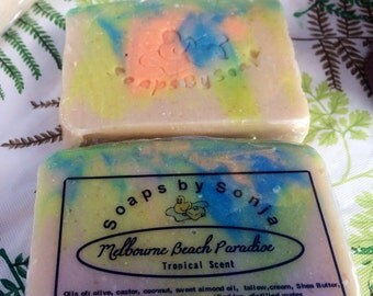 Melbourne Beach Paradise Handmade Soap (tropical scent) ON SALE