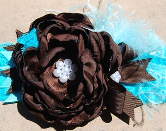 Turquoise and brown Headband by Caprice Colette