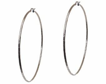 Sterling Silver/ Plated Hoop Earrings