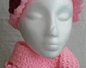 PINK Matched set hat & scarf
