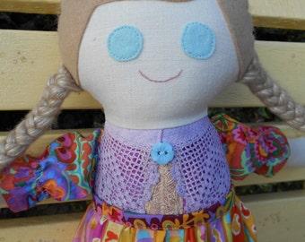 Hand made rag doll Anya