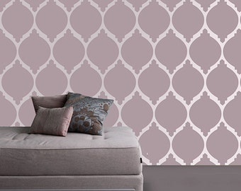 Modern wall stencil, Moroccan paint stencil for wall, Moroccan stencil, Stenciling