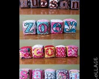 Custom Plush name blocks
