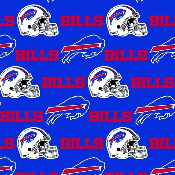 San Diego Chargers Fleece Fabric: Buffalo Bills NFL Logo Cotton Fabric By Fabric By