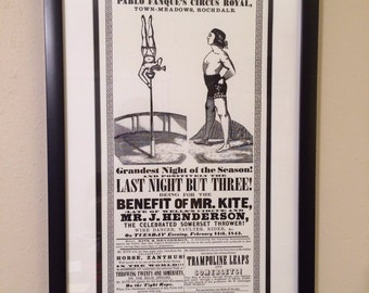 John Lennon's Mr. Kite Poster - Pablo Fanque's Circus Royal