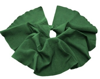 "60"" Dyed Burlap Tree Skirt Christmas Tree Decor. Made in USA."
