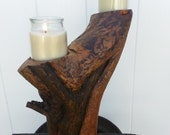 RECLAIMED WILD  FIRE  wood candle sculpture