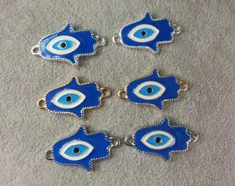 10  Pcs  Evil  Eye  Connector Evil Eye  Jewelry Hamsa Evil Eye protection