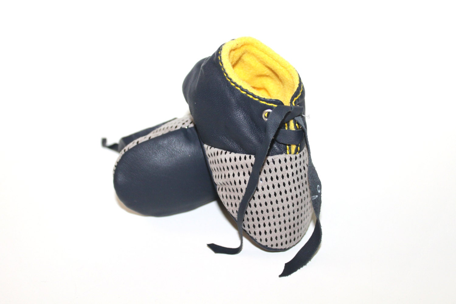 6 12 Months Slippers Baby Shoes Lamb Leather Yellow Dark