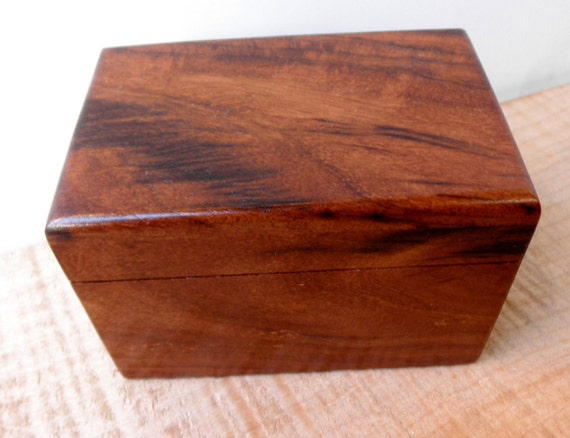 "Small Rosewood Memorial Cremation Urn...Constant Supply On Hand 4.5"" x 3"" x 3"""