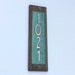 """Art Nouveau Copper House small numbers with oak frame 4 nos. x  2""""/50mm high, no maintenance, international tracked delivery"""