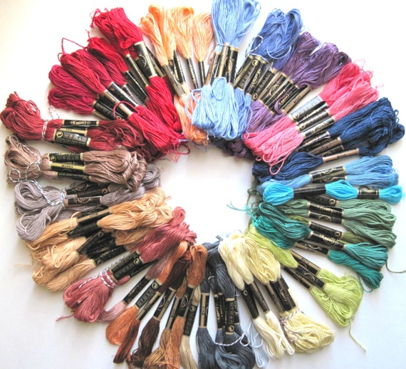 100 Skeins Pack Of Embroidery Floss Craft Thread Cotton
