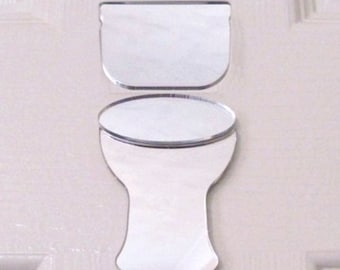 Toilet Door Sign - Mirrored Plain Toilet Sign - Several sizes