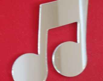 Quaver Musical Notes Shaped Mirrors  - 5 Sizes Available.
