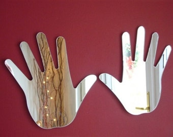 Pair of Hands Mirrors - 5 Sizes Available.   Also available in Packs of 5 Pairs for Crafting and Decorative Use