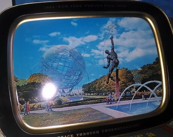 "New York World's Fair 1964-65 Large 8""x11""Serving Tray Unisphere"