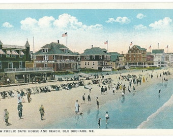 Old Orchard Beach, Maine Photo Postcard, c. 1910