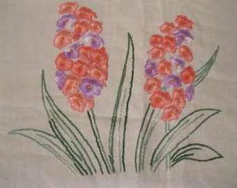 stunningly beautiful expertly embroided VINTAGE embroidery cloth