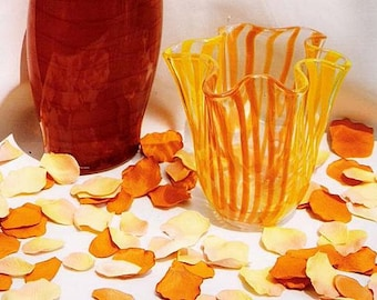 Tango Orange Silk Rose Petals Packed 800 Petals,Petals for Aisle,Wedding,Ceremony,Isle