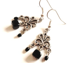 earrings Black Square