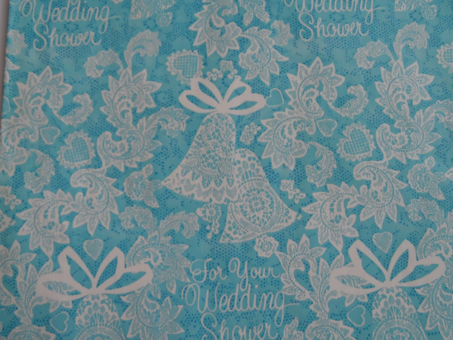 Wedding Gift Paper: Wedding Shower Wrapping Paper Vintage 1970's