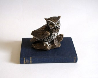 Vintage Brown HOMCO Owl Figurine