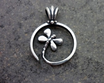 Spiral Dragonfly Pendant - Symbol of Joy andTransformation.  Handmade in Sterling or Gold.