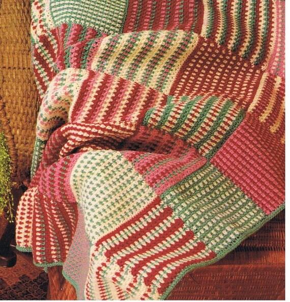 Afghan Patterns To Crochet For Beginners : beginner afghan crochet pattern/pdf