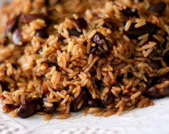 Haitian Rice with Black Beans