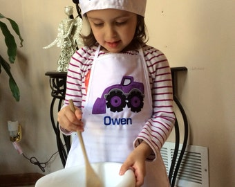 Personalized kids chef hat