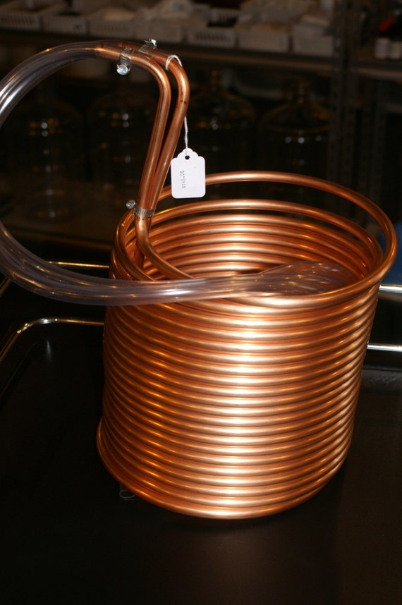 Copper Deluxe Immersion Wort Chiller Cooler with Tubing & Fittings 50' Beer Making
