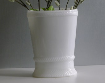 Rare milk glass oval vase