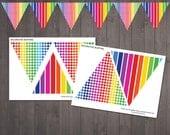 PRINTABLE Rainbow Bunting...