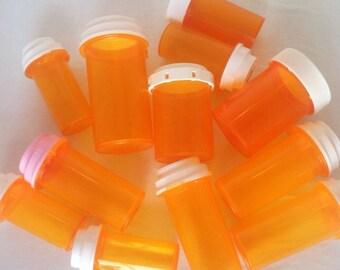 Plastic medicine bottles, craft storage, container