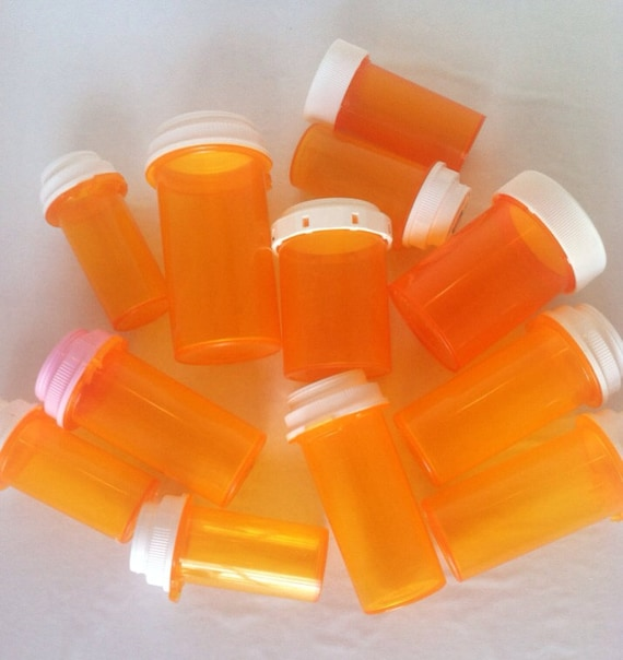 Items similar to plastic medicine bottles craft storage for Medicine bottle crafts