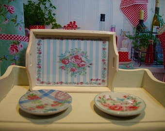 Greengate Style Miniature Wooden Tray