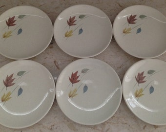 Franciscan Autumn Leaves Bread & Butter/Dessert Plates (6)