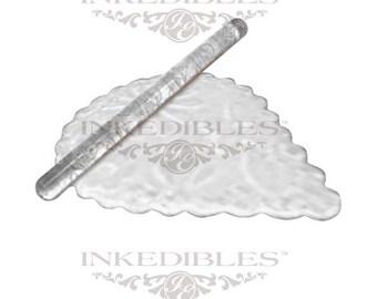 YummyArt Rolling Acrylic Impression Pin 12mmx165mm (Floral Design)