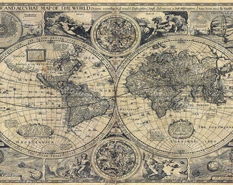 Old world map baptiste 1708 historic map antique restoration 1626 old world map historic map antique restoration hardware style world map old fine art print gumiabroncs Gallery