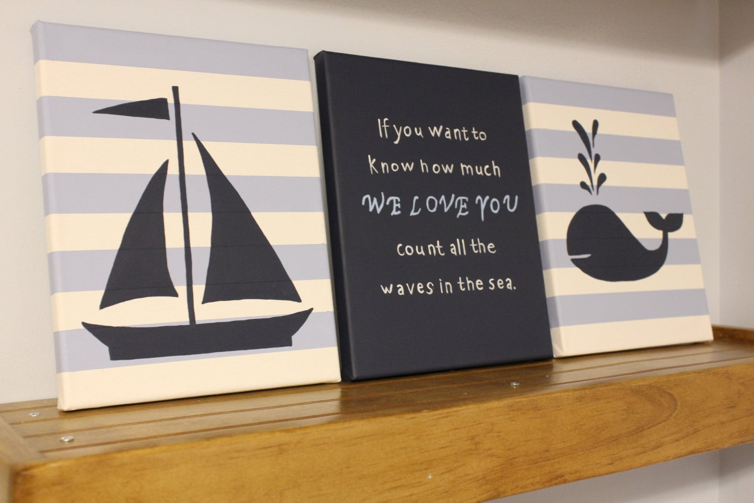 Nautical Nursery Wall Decor Baby Boy Girl Nautical 8x10