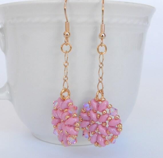 Long Dangling Pink Rose Gold Earrings Pastel Pink By Libeadi. Usa Pendant. Holder Pendant. Red Heart Pendant. Large Oval Pendant. Ash Pendant. Leopard Pendant. Woven Pendant. Moldavite Pendant